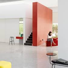 Interior office design photos Workplace Mddm Studio Uses Primary Colours To Brighten Up Simple Office In Beijing Office Interior Architecture And Design Dezeen