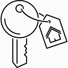 house key outline. Badge, Estate, House, Key, Real, Realtor Icon House Key Outline .