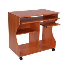 pc laptop storage shelf workstation wooden computer desk