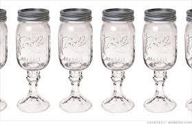 Carson Home Accents' RedNek Wine Glass -- a Ball Mason jar glued to a