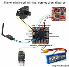 quadcopter wiring diagram guide diy quadcopter micro minimosd wiring connection diagram