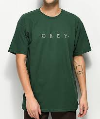 Obey T Shirt Size Chart Obey Novel Forest Green T Shirt
