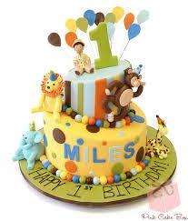 Shaans 1st Birthday Safari Cake