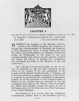 Statute of Westminster | The Canadian Encyclopedia