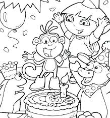 Dora Boots Coloring Pages Trustbanksurinamecom