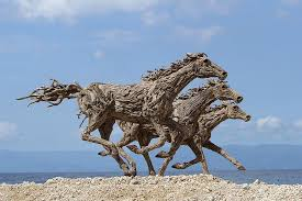 galloping driftwood horse sculptures jame doran webb 9