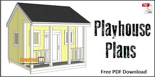 play house plans. Simple Plans Playhouse Plans  Free PDF Download On Play House Plans