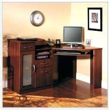 desk corner computer hutch white throughout ikea l shaped with