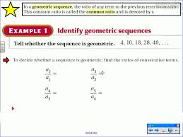 Geometric Sequence Example Geometric Sequences And Series 15
