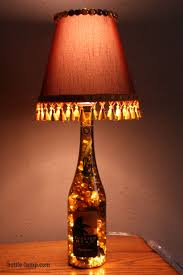 bottle lamp with custom lamp shade