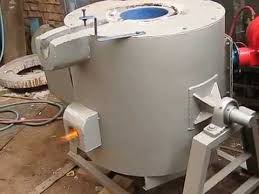 Gas Fired Melting Furnace - YouTube