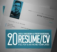 Modern Typographic Resume Set Modern Cv Resume Templates With Cover Letter Design Graphic