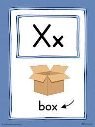 Alphabet Picture Card Letter X Printable Color