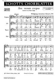 ave verum corpus sheet music ave verum corpus kv618 sheet music for piano and more