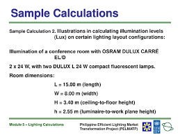 Lighting Lux Level Requirements Module 5 Lighting Calculations Ppt Download
