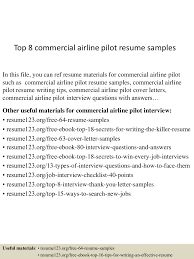 Professional Pilot Resume Sample Top224commercialairlinepilotresumesamples224lva224app622492thumbnail24jpgcb=224243224222599 22