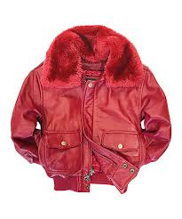 all gone red leather pilot er jacket toddler