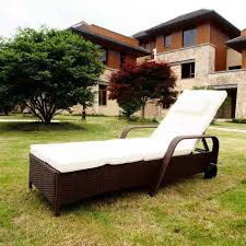 westwood rattan day chair recliner sun bed lounger wicker garden terrace brown
