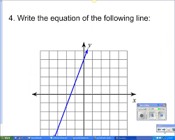 writing equations of lines given a graph