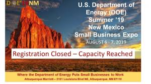 Doe Summer 19 New Mexico Small Business Expo Registration