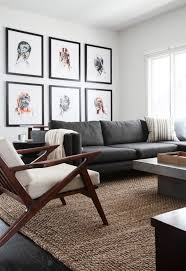 Grey Couch Living Room Home Design Interior