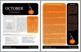 october newsletter ideas newsletter template word free free newsletter template word