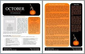 october newsletter ideas newsletter template word free free newsletter template word
