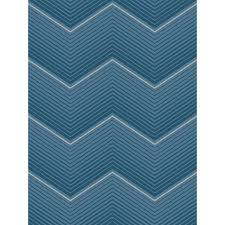seabrook designs chevron cerulean blue stripe wallpaper oa23502 the home depot