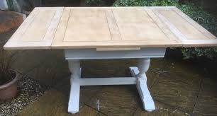 arts and crafts dining table. FINE-ARTS-CRAFTS-PAINTED-CHIC-OAK-EXTENDING-DINING- Arts And Crafts Dining Table R