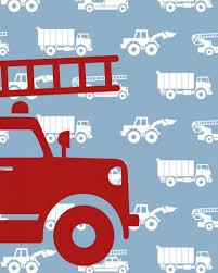 Behang Autos Met Brandweer Blauw Tinklecherry