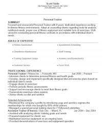Resume Of Trainer 18 Free Personal Trainer Resume Samples Sample Resumes
