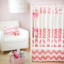 Baby Girl Chevron Baby Bedding Pink Chevron Crib Bedding