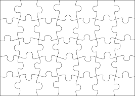 Printable Jigsaw Puzzle Maker Jigsaw Puzzle Blank Template Or Cutting Guidelines On