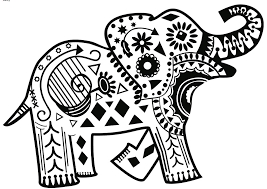 Abstract Elephant Coloring Pages Getcoloringpagescom