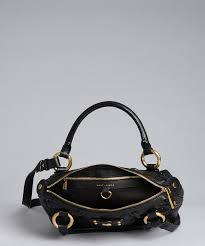 Marc Jacobs Black Quilted Leather 'irving' Convertible Shoulder ... & Marc Jacobs Black Quilted Leather 'irving' Convertible Shoulder Bag Adamdwight.com