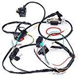 amazon com cdi wire cable harness plug connector for cdi box gy6 cisno complete electrics cdi coil wiring loom harness kick for 50cc 110cc 125cc atv dirt bike