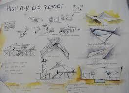 Design Sheets Of Architecture Students High End Eco Resort Karamvir Singh Hitesh Mutreja Rtf