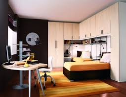 bedroom designs for guys. Cozy Small Bedroom Design Idea For Guys With White Wardrobe And Black Wall Paint Color Designs