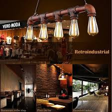 VIntage Loft Industrial Water Pipe lamp Retro Classic Edison Personalized bar  Lighting counter pendant lights for Warehouse-in Pendant Lights from Lights  ...