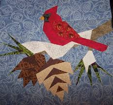 Free Cardinal Quilt Pattern | Zoey Quilts: Cardinal Paper Pieced ... & Free Cardinal Quilt Pattern | Zoey Quilts: Cardinal Paper Pieced Quilt  Block is Finished Adamdwight.com