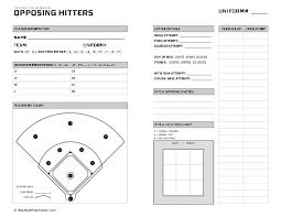 Baseball Chart Baseball Hitter Scouting Chart