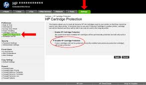 How To Disable Hp Cartridge Protection Inkntoneruk Blog
