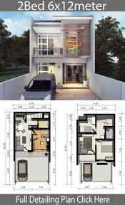 Home design plan 6x12m with 2 bedrooms - Home Design with Plan | Small  house design plans, Modern house plans, Duplex house design
