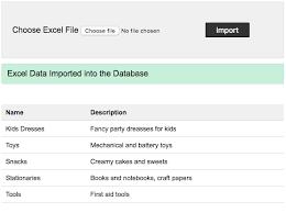 import excel file into mysql database