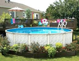 river rock around above ground pool landscaping around pool deck no deck no problem you can river rock around above ground pool