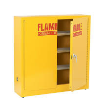 Wall Storage Cabinet Sandusky 44 In H X 43 In W X 12 In D Flammable Liquid Safety