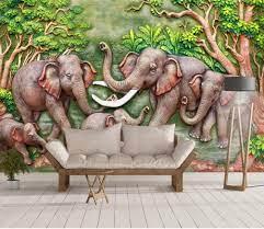 Wall mural Elephant, indian elephant ...