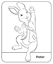 Peter Rabbit Coloring Pages Mycoloring