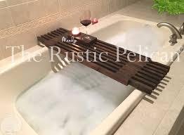 surprising bathtub trays wooden bathroom teak caddy bath and