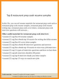 Sample Grill Cook Resume Prep Cook Resume Sample Grill Cook Resume Refrence Prep Examples